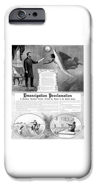 Abraham Lincoln iPhone 6s Case - Emancipation Proclamation by War Is Hell Store