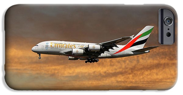 Jet iPhone 6s Case - Emirates Airbus A380-861 3 by Smart Aviation