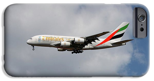 Jet iPhone 6s Case - Emirates Airbus A380-861 5 by Smart Aviation