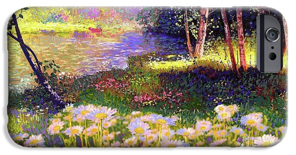 Enchanted By Daisies, Modern Impressionism, Wildflowers, Silver Birch, Aspen IPhone 6s Case