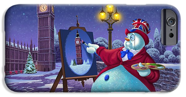 Big Ben iPhone 6s Case - English Snowman by Michael Humphries