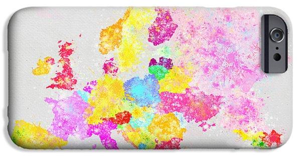Europe Map IPhone Case by Setsiri Silapasuwanchai