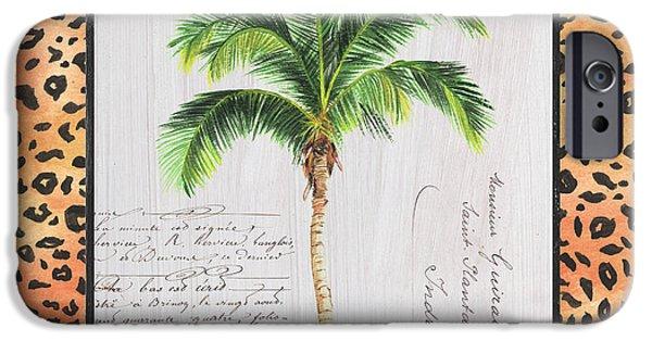Cheetah iPhone 6s Case - Exotic Palms 1 by Debbie DeWitt