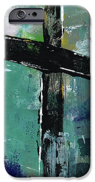 Contemporary iPhone 6s Case - Expressionist Cross 8- Art By Linda Woods by Linda Woods