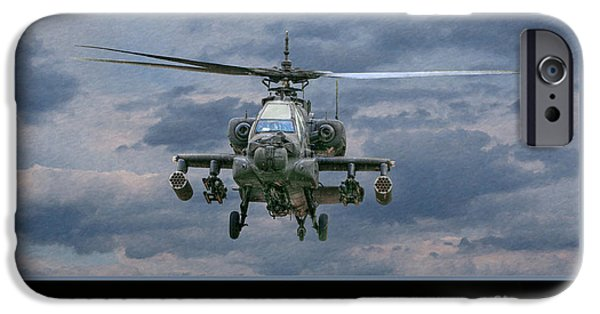 Helicopter iPhone 6s Case - Face Of Death Ah-64 Apache Helicopter by Randy Steele