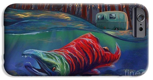 Salmon iPhone 6s Case - Fall Salmon Fishing by Sassan Filsoof