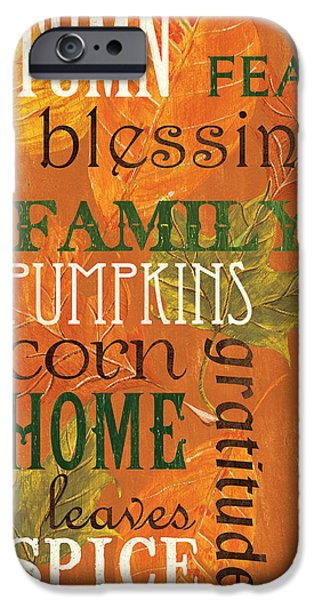 Fall Typography 1 IPhone 6s Case by Debbie DeWitt