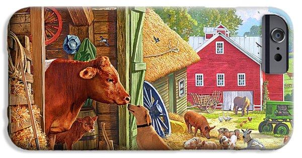 Swallow iPhone 6s Case - Farm Scene In America by Steve Crisp