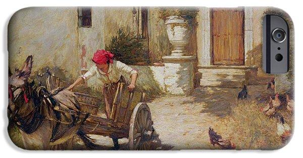 Farm Yard Scene IPhone 6s Case by Henry Herbert La Thangue