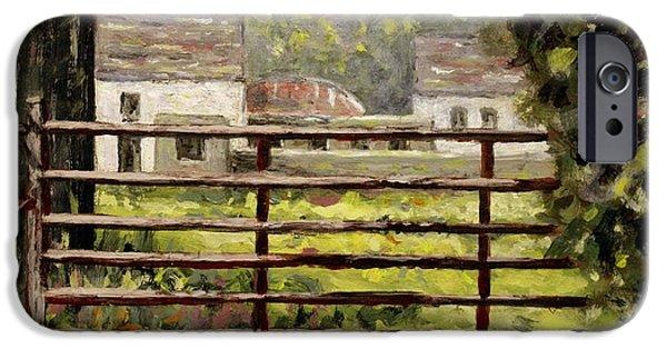 Farmyard Gate IPhone Case by John  Nolan