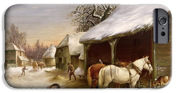 Farmyard In Winter  IPhone 6s Case by Henry Woollett