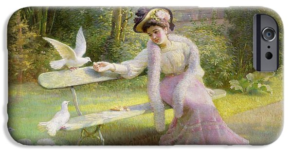 Feeding The Doves  IPhone 6s Case by Edmond Alphonse Defonte