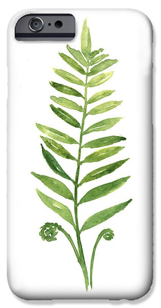 Fern Leaf Watercolor Painting IPhone 6s Case by Joanna Szmerdt