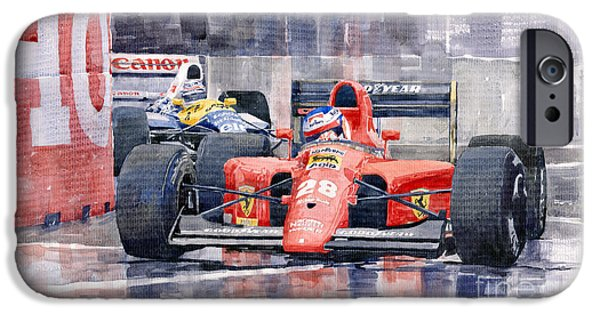 Car iPhone 6s Case - 1991 Ferrari F1 Jean Alesi Phoenix Us Gp Arizona 1991 by Yuriy Shevchuk