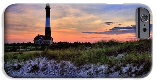 Fire Island Lighthouse IPhone Case by Rick Berk