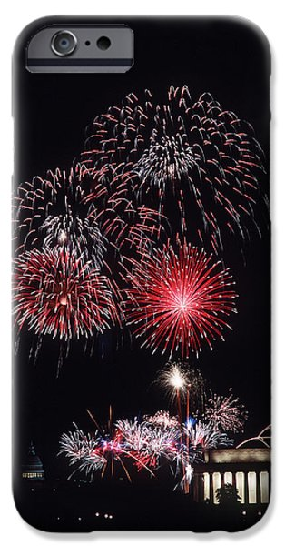 Fireworks Light Up The Night Sky IPhone Case by Stocktrek Images