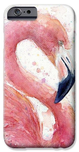 Flamingo iPhone 6s Case - Flamingo - Facing Right by Olga Shvartsur