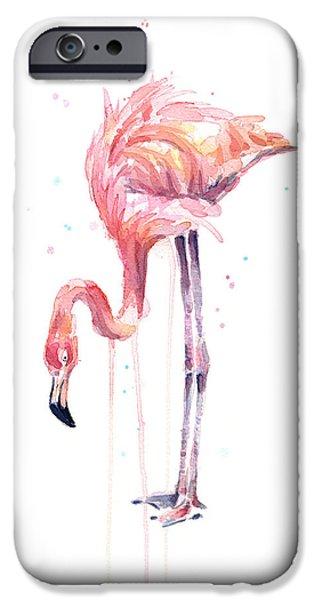 Flamingo Watercolor - Facing Left IPhone 6s Case