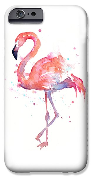 Flamingo Watercolor IPhone 6s Case by Olga Shvartsur