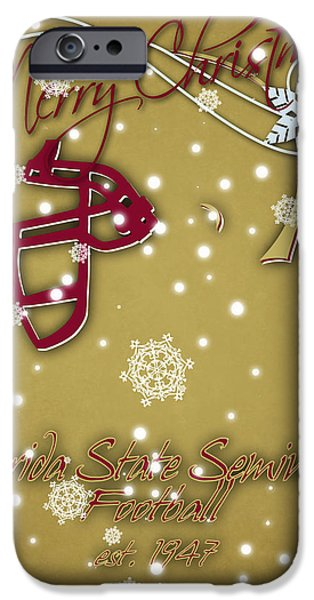 Florida State Seminoles Christmas Card 2 IPhone 6s Case by Joe Hamilton