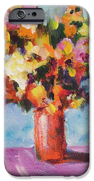 Flower Bouquet In Red Vase IPhone 6s Case by Yulia Kazansky