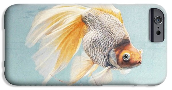 Flying In The Clouds Of Goldfish IPhone 6s Case by Chen Baoyi