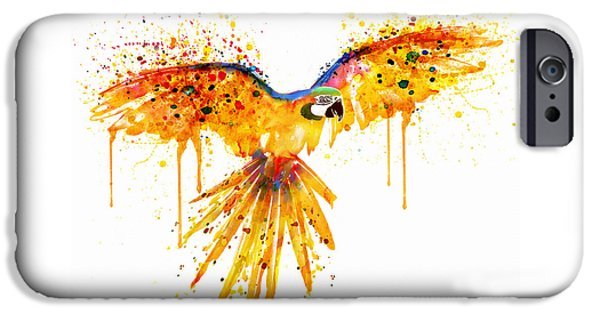 Flying Parrot Watercolor IPhone 6s Case by Marian Voicu