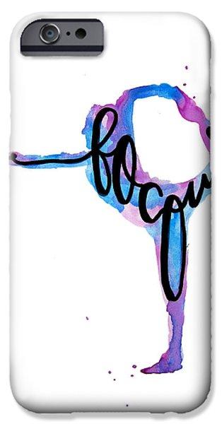 Yoga iPhone 6s Case - Focus Yoga Art by Michelle Eshleman