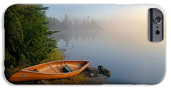 Landscapes iPhone 6s Case - Foggy Morning On Spice Lake by Larry Ricker