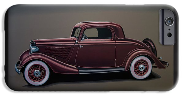 Falcon iPhone 6s Case - Ford 3 Window Coupe 1933 Painting by Paul Meijering