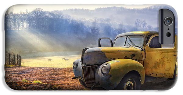 Car iPhone 6s Case - Ford In The Fog by Debra and Dave Vanderlaan