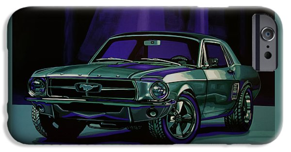 Falcon iPhone 6s Case - Ford Mustang 1967 Painting by Paul Meijering