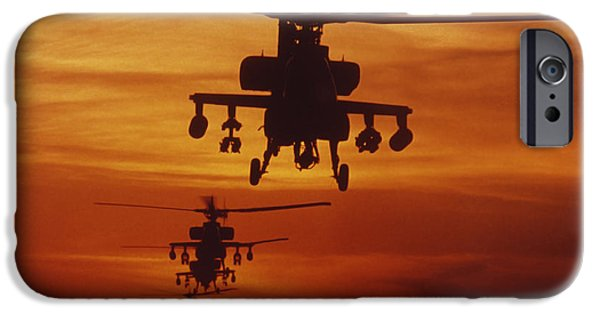 Helicopter iPhone 6s Case - Four Ah-64 Apache Anti-armor by Stocktrek Images
