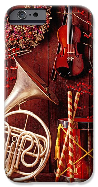 Drum iPhone 6s Case - French Horn Christmas Still Life by Garry Gay