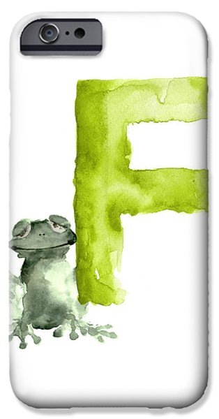 Frog Watercolor Alphabet Painting IPhone 6s Case by Joanna Szmerdt
