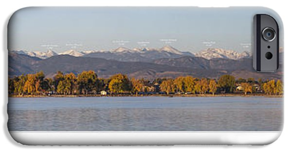 Front Range With Peak Labels IPhone 6s Case by Aaron Spong