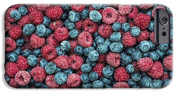 Blue Berry iPhone 6s Case - Frozen Berries by Tim Gainey