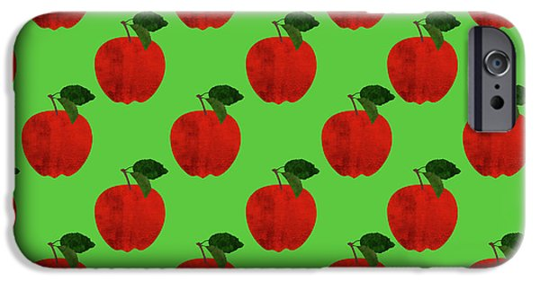Fruit 02_apple_pattern IPhone 6s Case by Bobbi Freelance