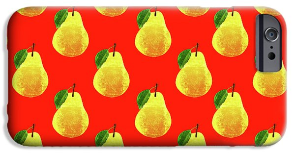 Fruit 03_pear_pattern IPhone 6s Case by Bobbi Freelance