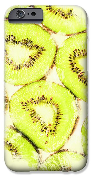 Kiwi iPhone 6s Case - Full Frame Shot Of Fresh Kiwi Slices With Seeds by Jorgo Photography - Wall Art Gallery