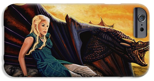 Dragon iPhone 6s Case - Game Of Thrones Painting by Paul Meijering