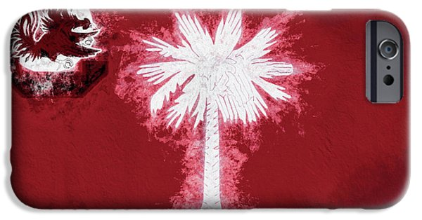 IPhone 6s Case featuring the digital art Gamecocks South Carolina State Flag by JC Findley