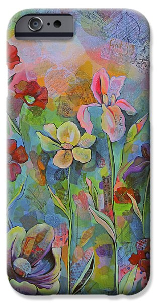 Garden Of Intention - Triptych Center Panel IPhone 6s Case by Shadia Derbyshire