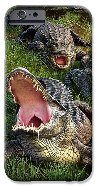 Alligator iPhone 6s Case - Gator Aid by Jerry LoFaro