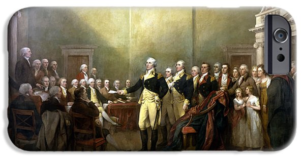 George Washington iPhone 6s Case - General Washington Resigning His Commission by War Is Hell Store