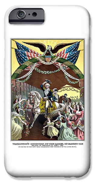 George Washington iPhone 6s Case - General Washington's Reception At Trenton by War Is Hell Store