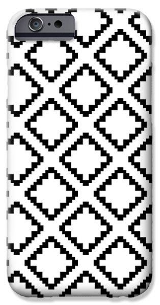 Geometricsquaresdiamondpattern IPhone 6s Case by Rachel Follett