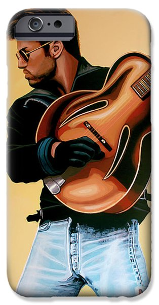 George Michael Painting IPhone 6s Case by Paul Meijering