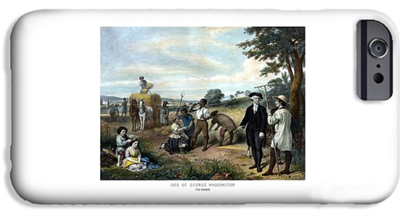 George Washington iPhone 6s Case - George Washington The Farmer by War Is Hell Store