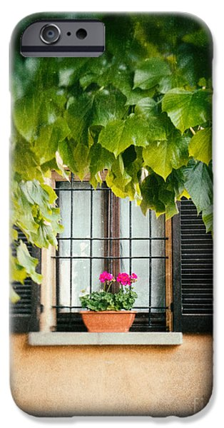 IPhone 6s Case featuring the photograph Geraniums On Windowsill by Silvia Ganora